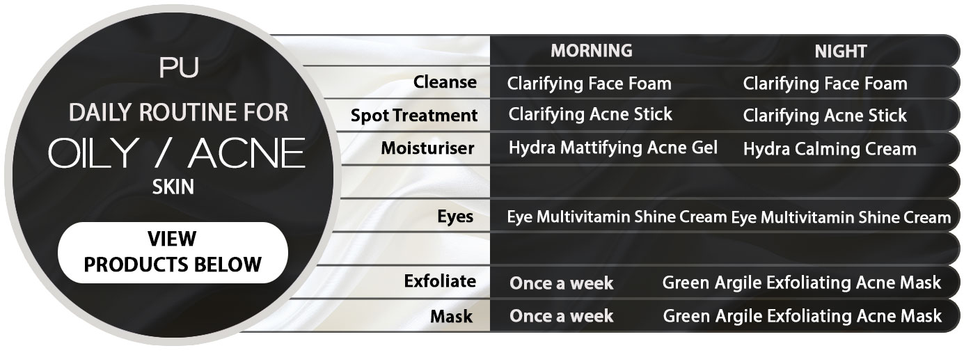Oily-Acne Skin Routine